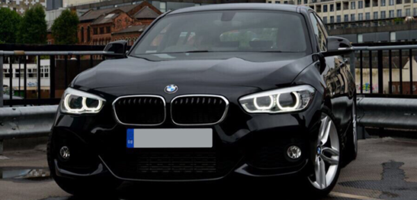 This BMW 1 Series is available for hire anywhere in UK.
