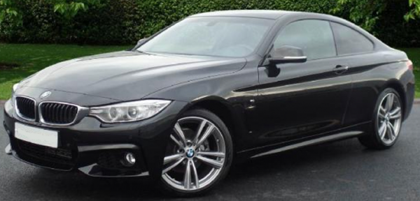 This BMW 4 Series is available for hire anywhere in UK.