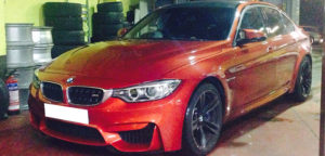 This BMW M3 is available for hire anywhere in UK.