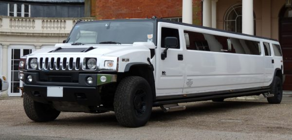This Hummer H2 Limousine is available for hire anywhere in UK.