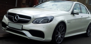 This Mercedes E63 AMG is available for hire anywhere in UK.