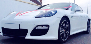 This Porsche Panamera is available for hire anywhere in UK.