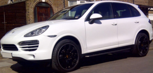 This Porsche Cayenne is available for hire anywhere in UK.