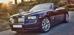 This Rolls Royce Dawn is available for hire anywhere in UK.