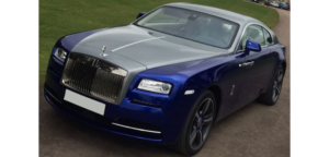 This Rolls Royce Wraith is available for hire anywhere in UK.