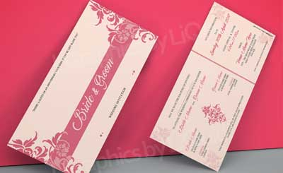 Check prices and designs for Asian wedding invitation cards.