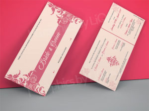 Pink Asian Wedding Invitation Cards UK