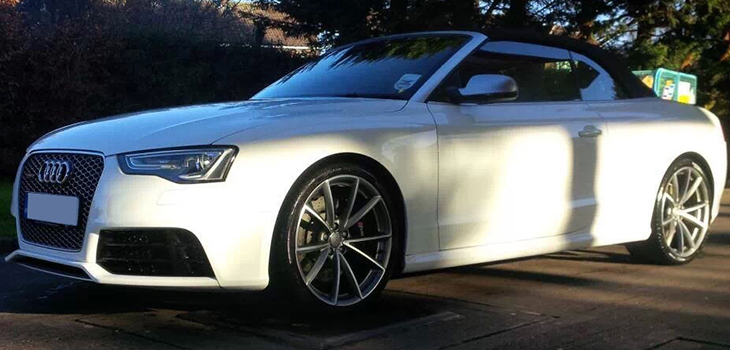 Hire this Audi RS5 anywhere in the North West of England including Manchester, Bradford, Leeds, Preston, Blackburn and Bolton.