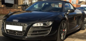 Hire this Audi R8 GT for anywhere in UK.