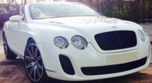 This Bentley GT Coupe is available for hire anywhere in UK.