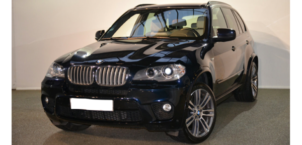 This BMW X5 is available for hire anywhere in UK.