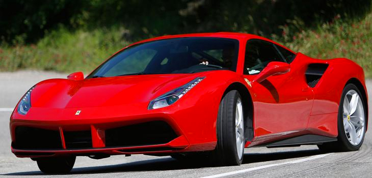 This Ferrari 488 is available for hire anywhere in UK.