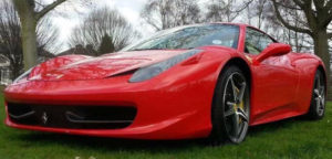 This Ferrari 458 is available for hire anywhere in UK.