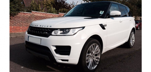 This Range Rover Sport is available for hire anywhere in UK.