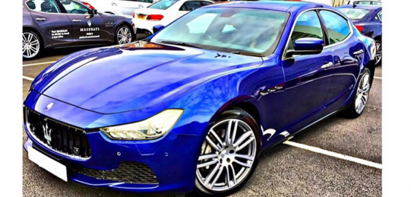 This Maserati Ghibli is available for hire anywhere in UK.