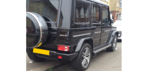 This Mercedes G63 AMG is available for hire anywhere in UK.