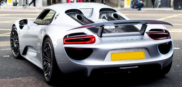 This Porsche 918 Spyder is available for hire anywhere in UK.