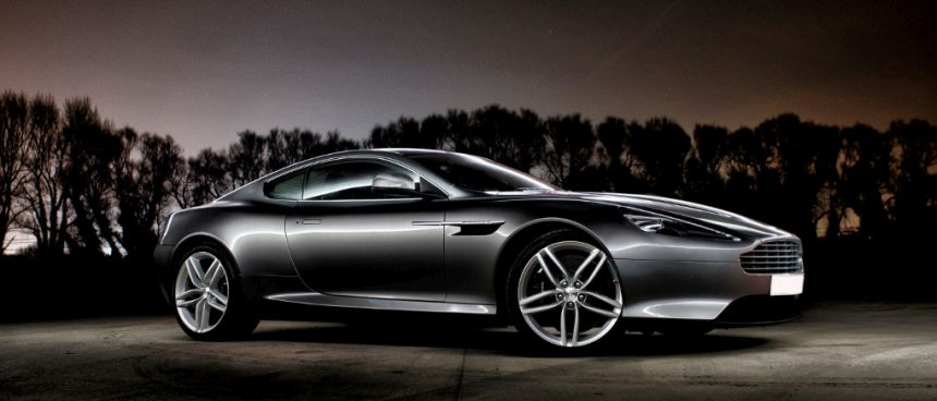 This Aston Martin Virage is available for hire anywhere in UK.