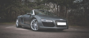 This Audi R8 Spyder is available for hire anywhere in UK.