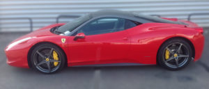 This Ferrari 458 Italia is available for hire anywhere in UK.