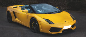 This Lamborghini LP560 Spyder is available for hire anywhere in UK.