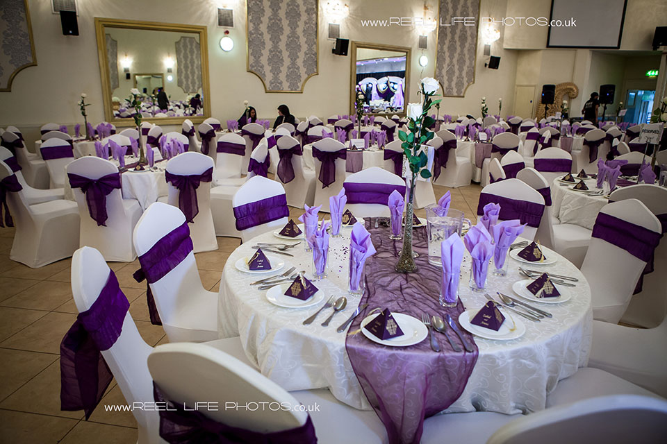 Details of tables and stage at Nawaab's Indian Restaurant