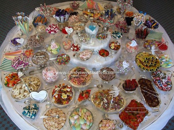 Wide range of sweets available for table hire including halal sweets and vegitarean sweets