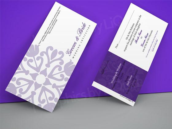 Purple Asian Wedding invitation card by Liquid Invitations