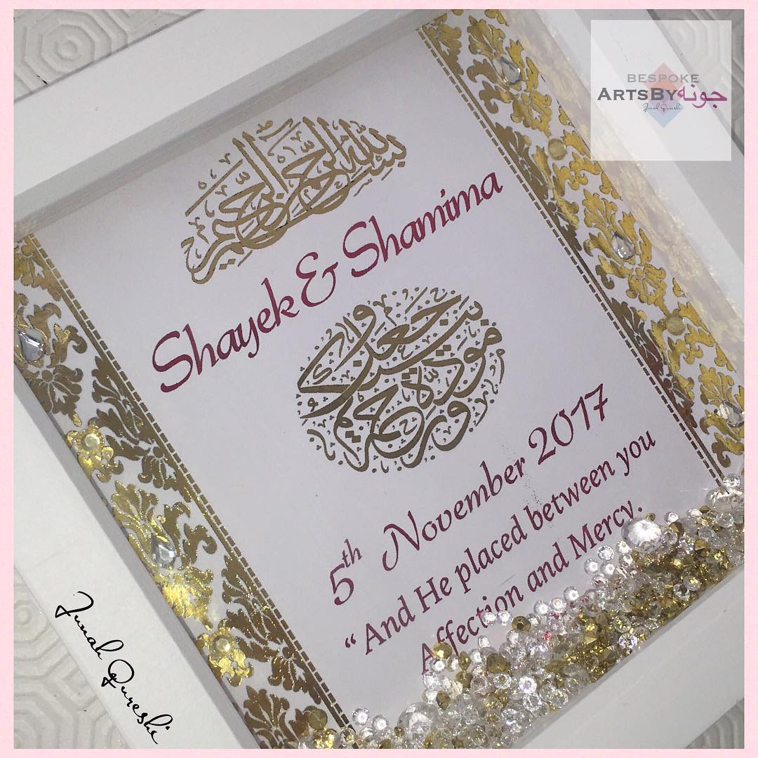 Asian Wedding Bride and Groom frame customised