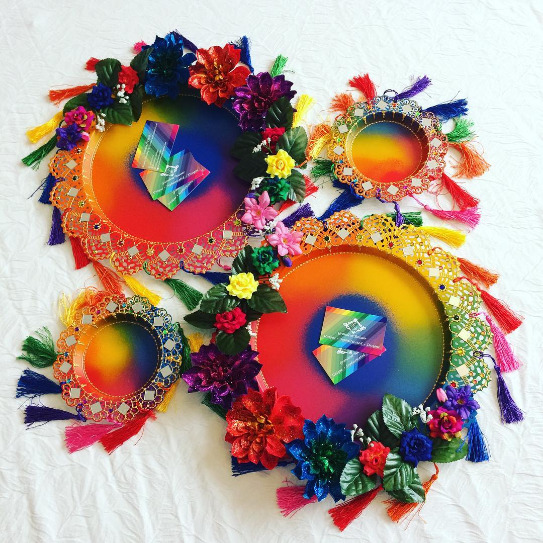 grandeurbazaar-mendhi-floral-plates