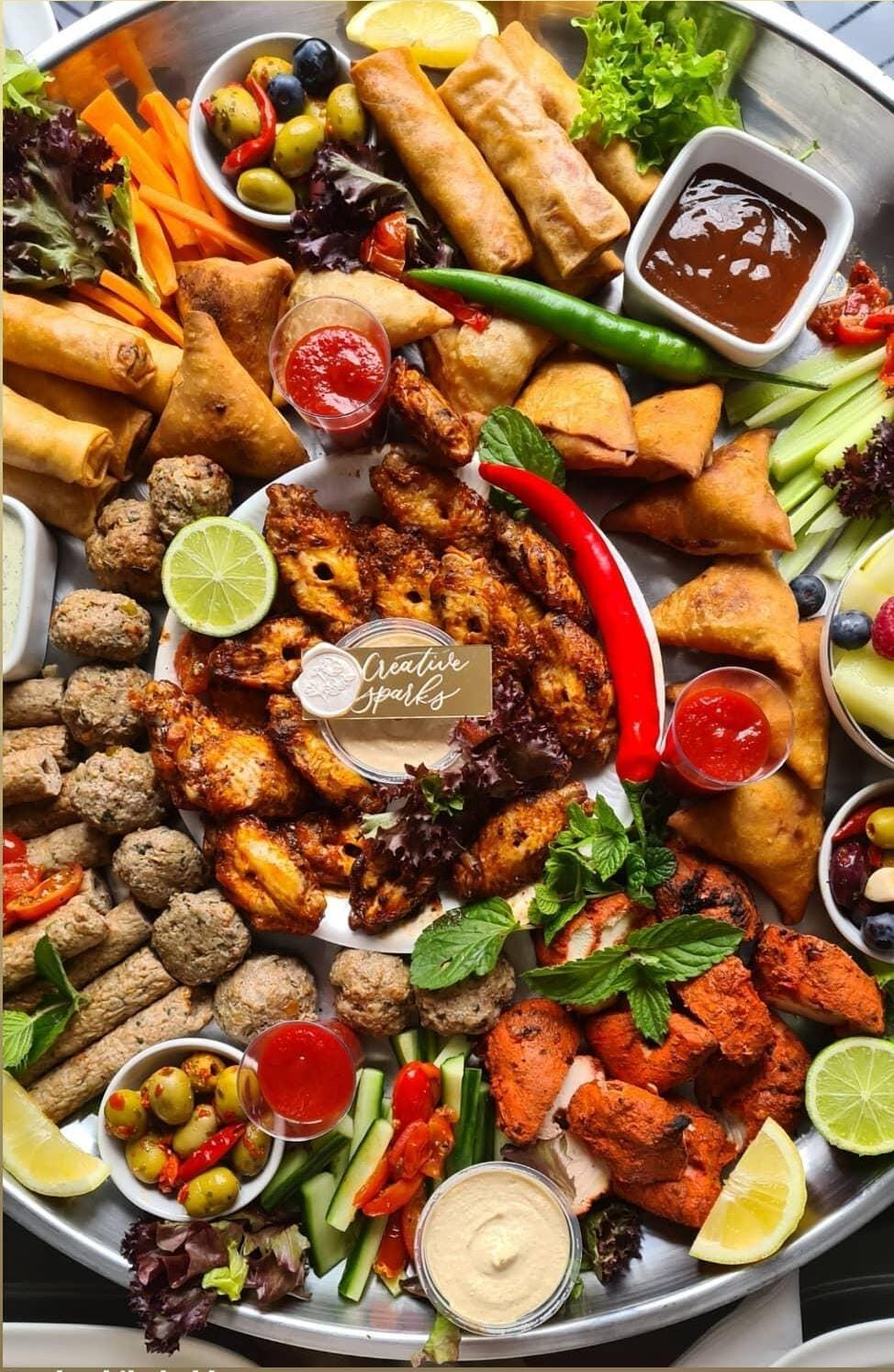 Pakistani Mixed Platter for Weddings and Occasions